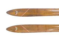 antique Flexible Flyer skis | (detail) | skitime