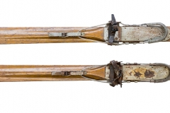 antique Flexible Flyer skis | 84 inches by 20 inches | skitime