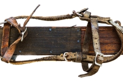 antique skis ca. 1910 | (detail) | skitime
